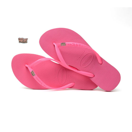 Havaianas Shocking Pink Flip Flops with Pink Glitter Mother of the Bride