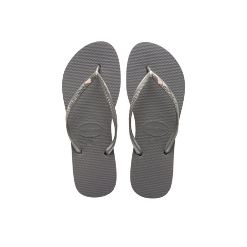 Rose Gold 'The Bride' Havaianas Slim Silver Wedding Flip Flops