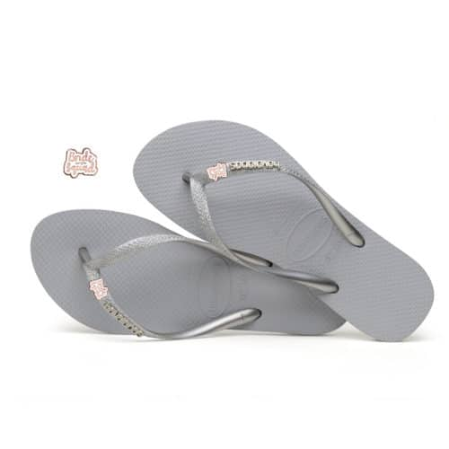 havaianas slim ballet rose glitter bride squad rose gold