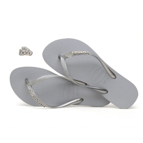 havaianas slim ballet rose glitter the bride white glitter
