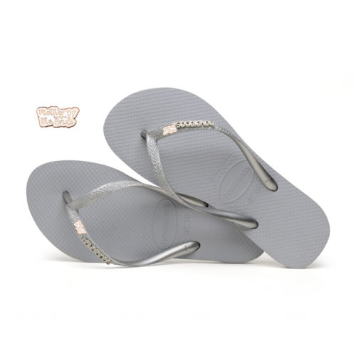 Rose Gold Mother of the Bride Havaianas Slim Silver Wedding Havaianas