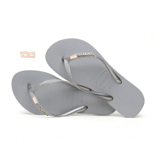 havaianas slim silver glitter mother of the groom rose gold
