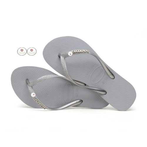 havaianas slim silver glitter edition Mrs Mrs Wedding Charm
