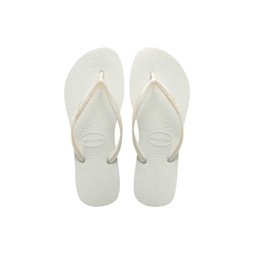 Havaianas Traditional Slim White Flip Flops Sandals Gift