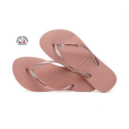 Havaianas Slim Rose Metallic Flip-Flops with Hen Do Charm Personalised