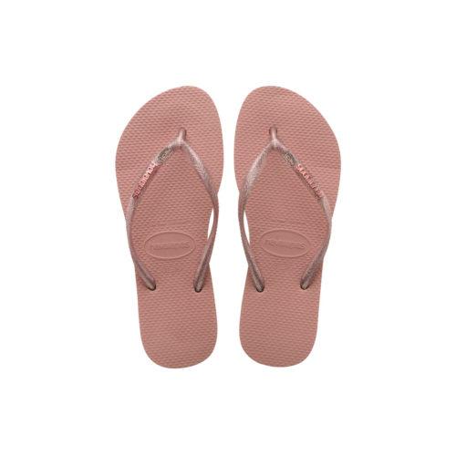 Havaianas Rose Metallic Flip-Flops with Pink Glitter Mother of the Bride