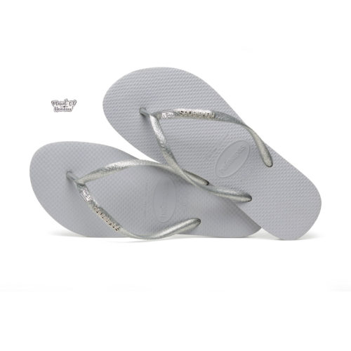 Havaianas Silver Metallic Flip-Flops with Silver & White Maid of Honour