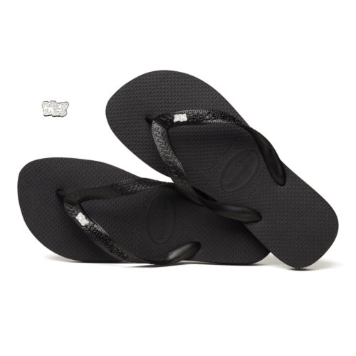 Silver & White Mother of the Bride Pin Havaianas Black Wedding Flip Flops