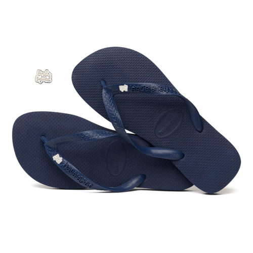 Silver & White Bride Squad Charm Havaianas Top Navy Wedding Gift