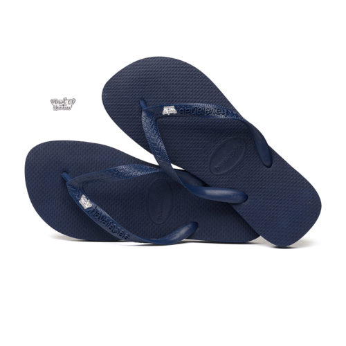 Silver & White Maid of Honour Charm Havaianas Top Navy Wedding
