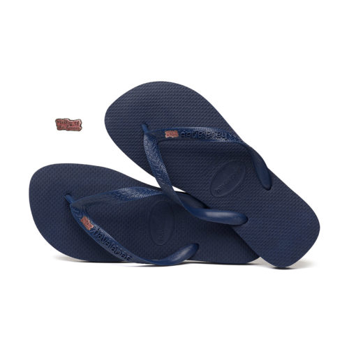 Pink Glitter Mother of the Groom Charm Havaianas Top Navy Wedding