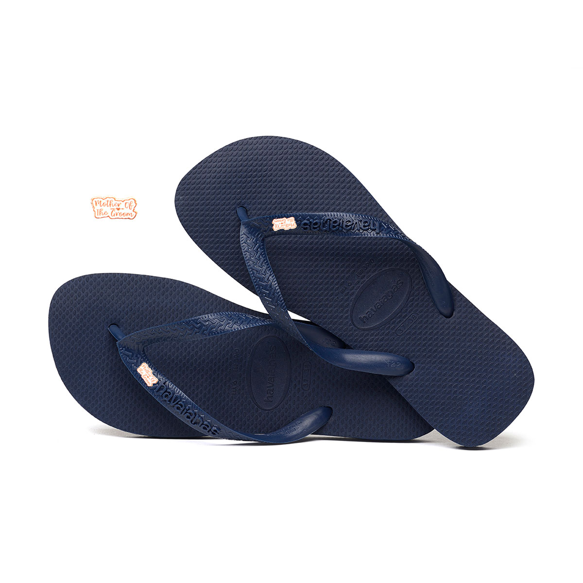 Rose Gold Mother of the Groom Charm Havaianas Top Navy Wedding Gift