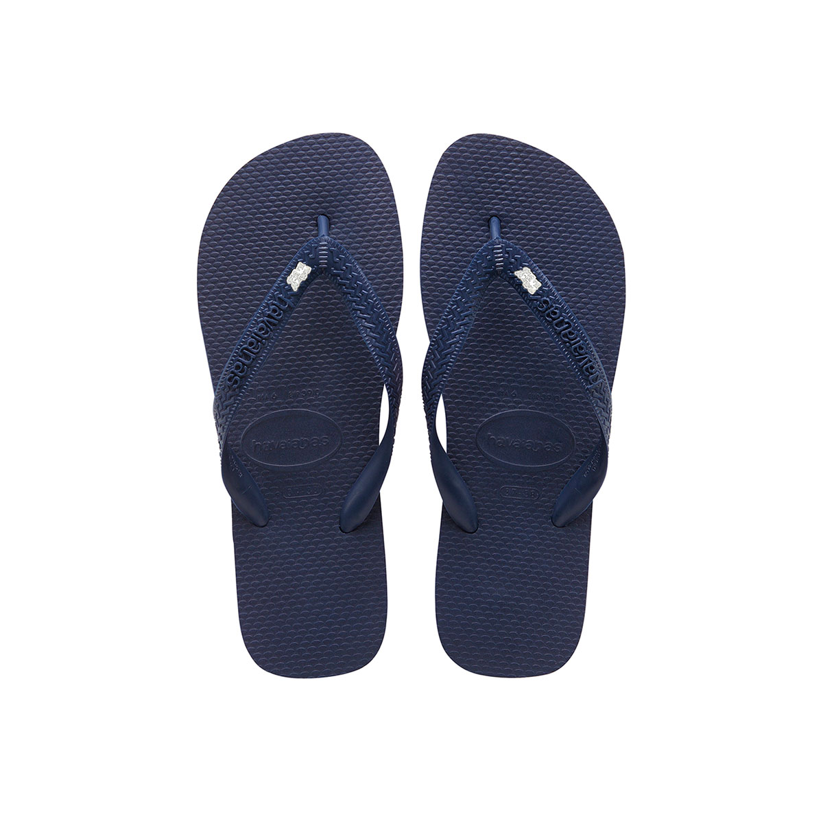 Silver & White Mother of the Bride Charm Havaianas Top Navy Wedding