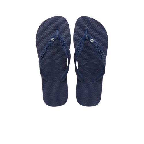 Silver Mr & Mr Charm Havaianas Top Navy Wedding Gift