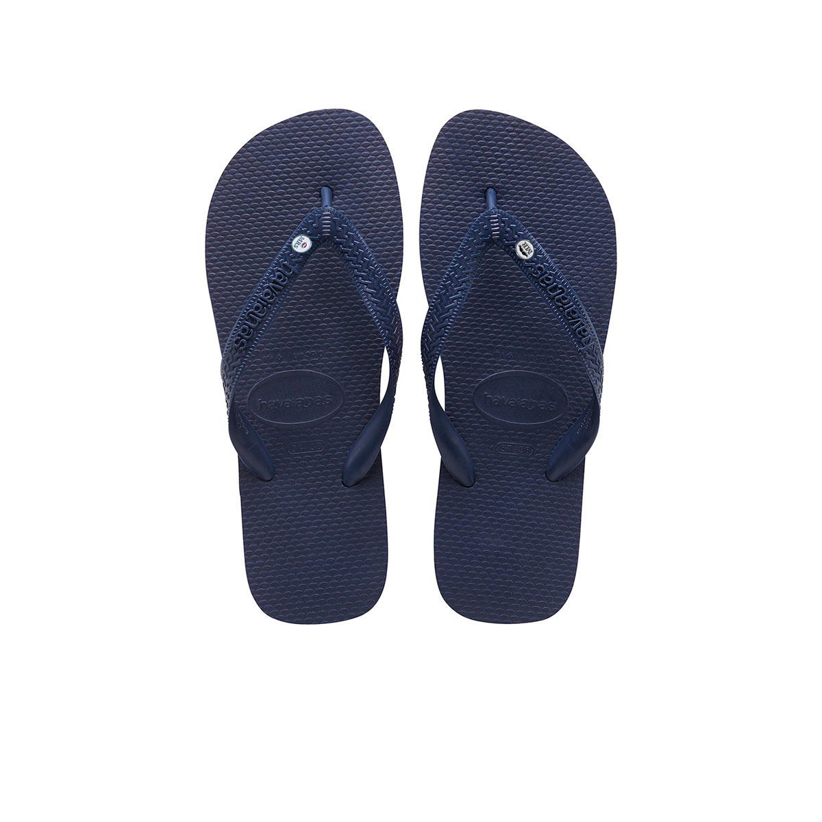 Silver Mr and Mrs Charm Havaianas Top Flip Flops Navy Wedding Gift