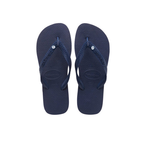 Silver Mrs and Mrs Charm Havaianas Top Flip Flops Navy Wedding Gift