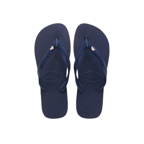 Rose Gold 'The Bride' Havaianas Top Navy Wedding Flip Flops
