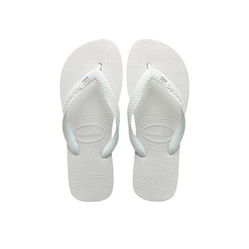 Silver 'Bridesmaid' Charm Havaianas Top White Wedding Flip Flops