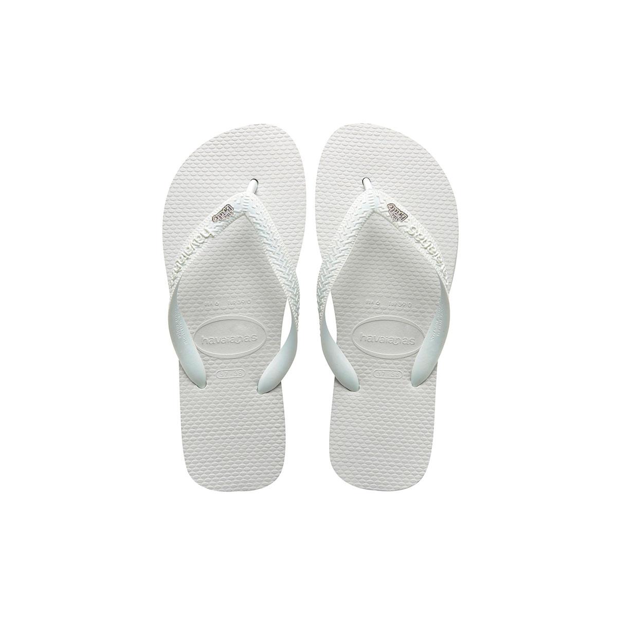 White Glitter 'The Bride' Havaianas Top White Wedding Flip Flops