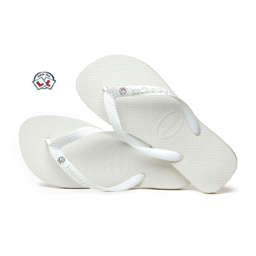 Havaianas White Top Flip-Flops with Hen Do Personalised Wedding