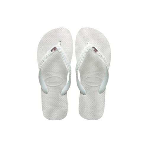 Just Married Pink Glitter Charm Havaianas Top White Wedding Gift