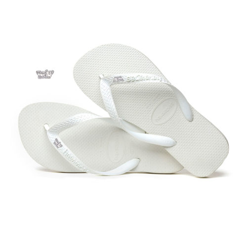 Maid of Honour Silver White Charm Havaianas Top White Wedding Gift