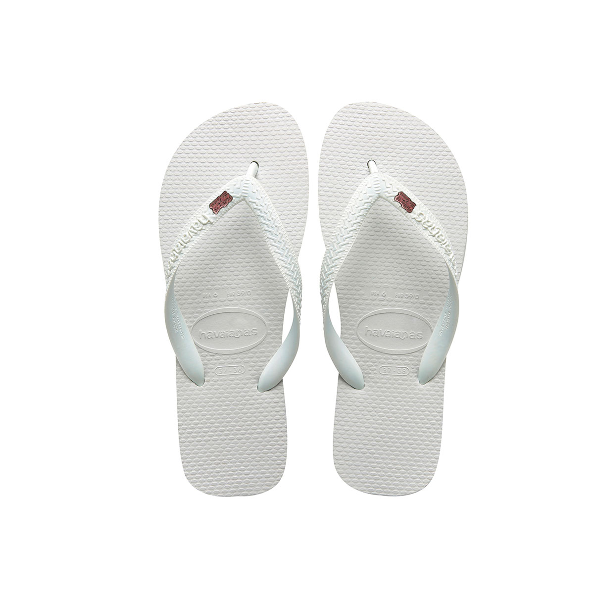Mother of the Groom Pink Glitter Charm Havaianas Top White Wedding