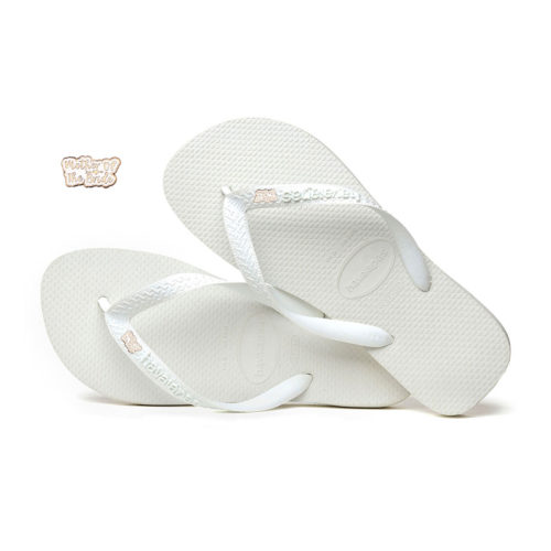 Mother of the Bride Rose Gold Charm Havaianas Top White Wedding Gift