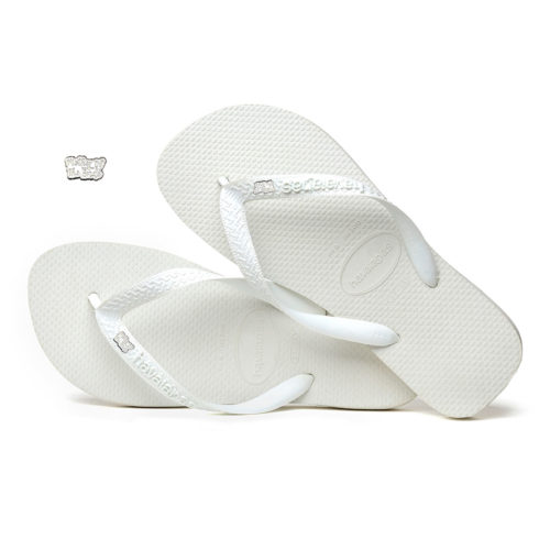 Mother of the Bride Silver White Charm Havaianas Top White Wedding Gift