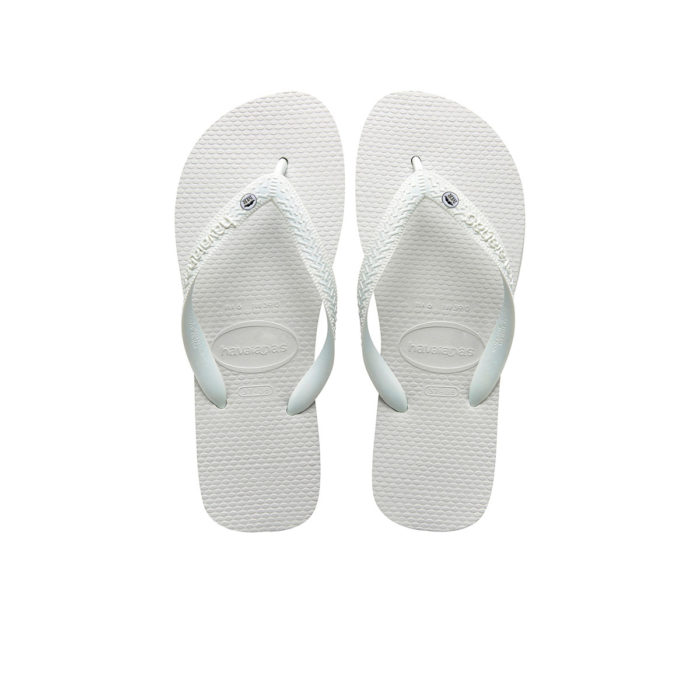 Mr and Mr Silver Charm Havaianas Top White Wedding Gift