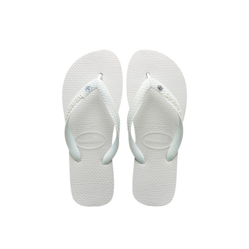 Bride Squad Silver Mr and Mrs Charm Havaianas White Wedding Gift