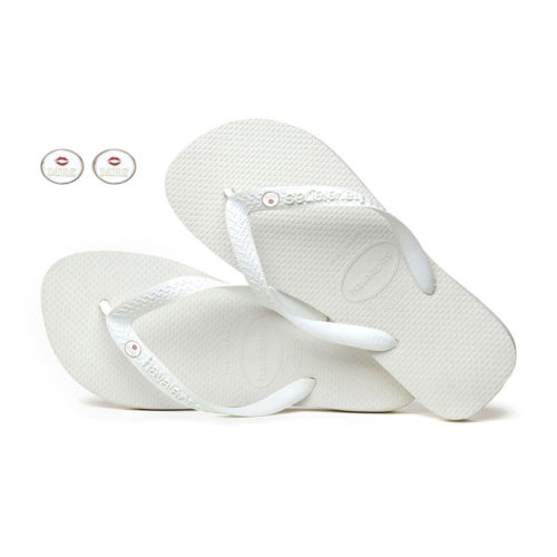 Bride Squad Silver Mrs and Mrs Charm Havaianas White Wedding Gift