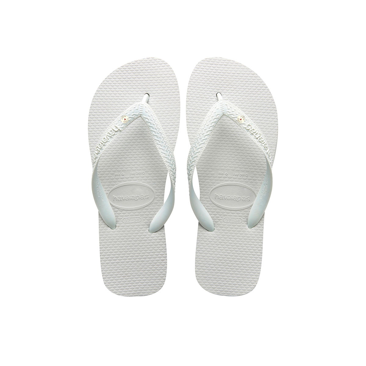 Havaianas White Top Flip-Flops with Silver Charm Personalised Wedding