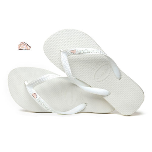 Rose Gold 'The Bride' Havaianas Top White Wedding Flip Flops