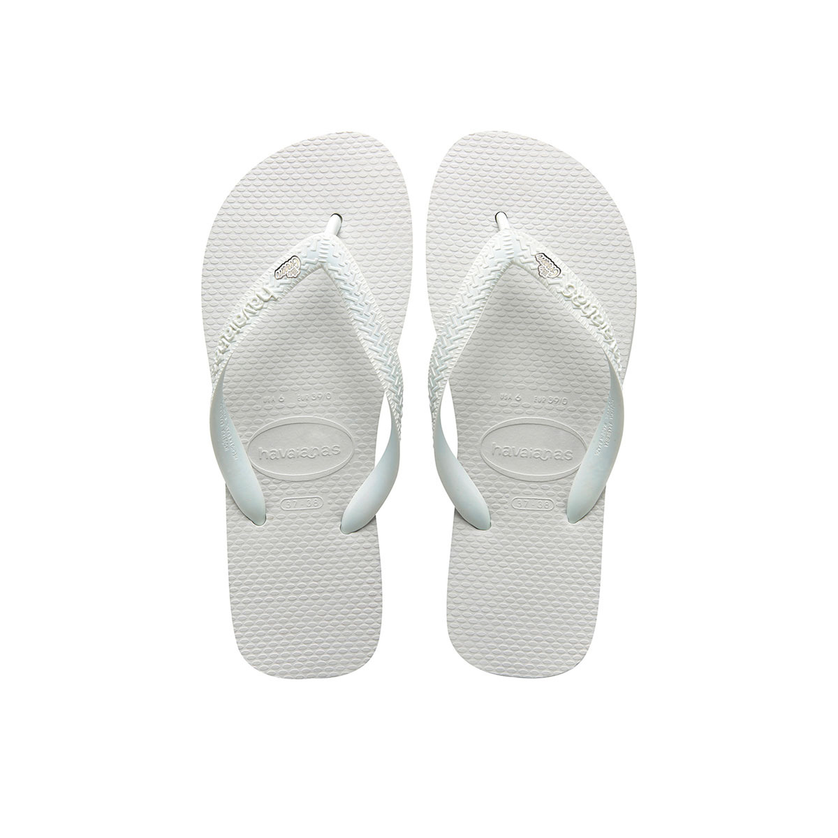 The Groom Silver & White Charm Havaianas Top White Wedding Gift