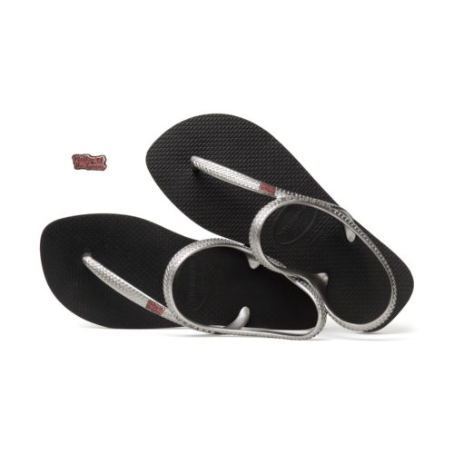 Pink Glitter Mother of the Groom Charm Havaianas Urban Silver Flip Flops