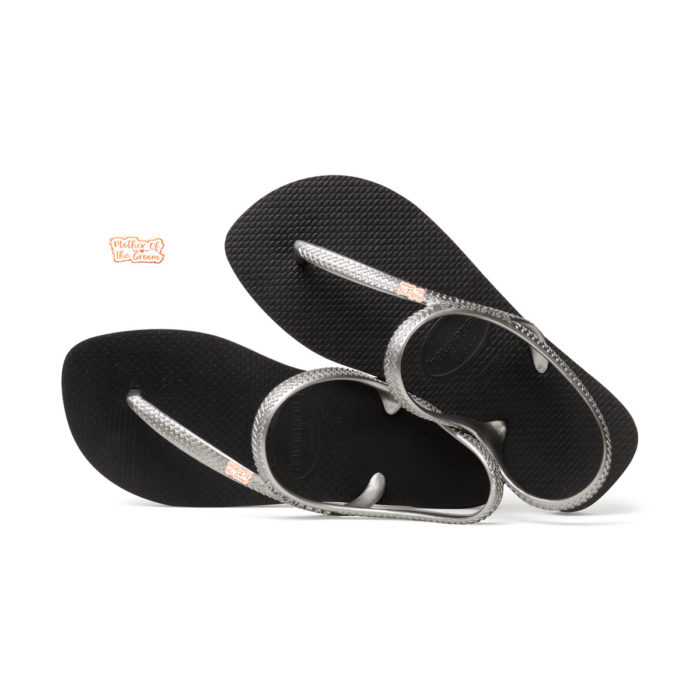 Rose Gold Mother of the Groom Pin Havaianas Urban Flip Flops Wedding