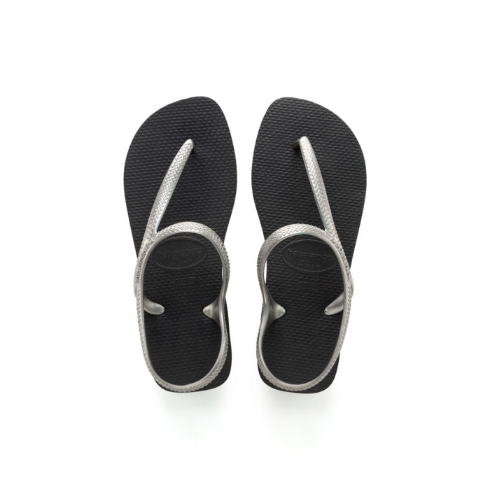 Havaianas Urba Silver and Black Flip Flops Sandals Gift