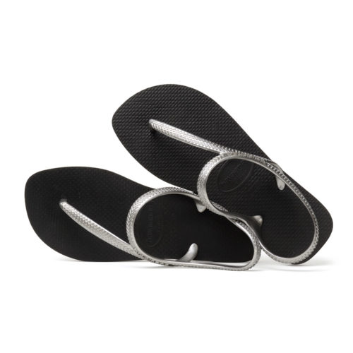 Havaianas Urba Silver and Black Flip Flops Sandals Gift