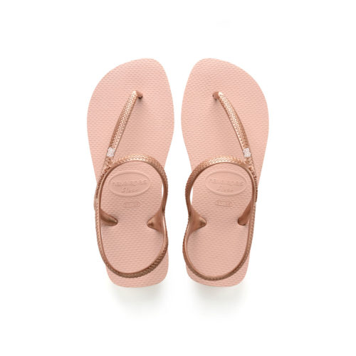 Bride Squad Rose Gold Charm Havaianas Ballet Rose Flip Flops Wedding