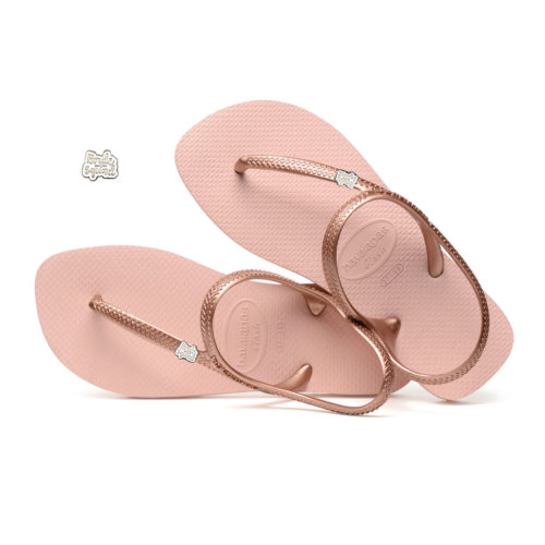 Bride Squad Silver White Pin Havaianas Ballet Rose Flip Flops Wedding