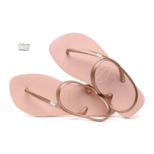 Mother of the Bride Silver White Charm Havaianas Ballet Rose Flip Flops