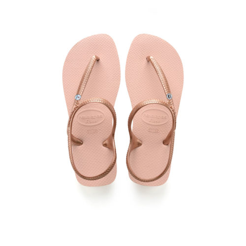Mr & Mrs Silver Charm Havaianas Ballet Rose Flip Flops Wedding Gift