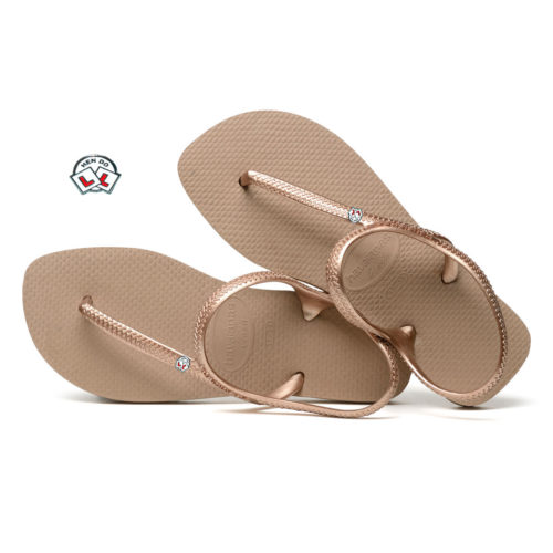 Hen Do Charm Havaianas Urban Rose Gold Wedding Flip Flops