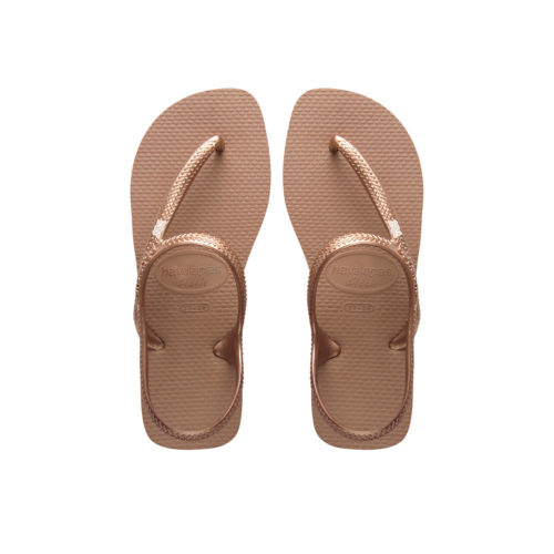 Mother of the Bride Rose Gold Charm Havaianas Urban Rose Flip Flops