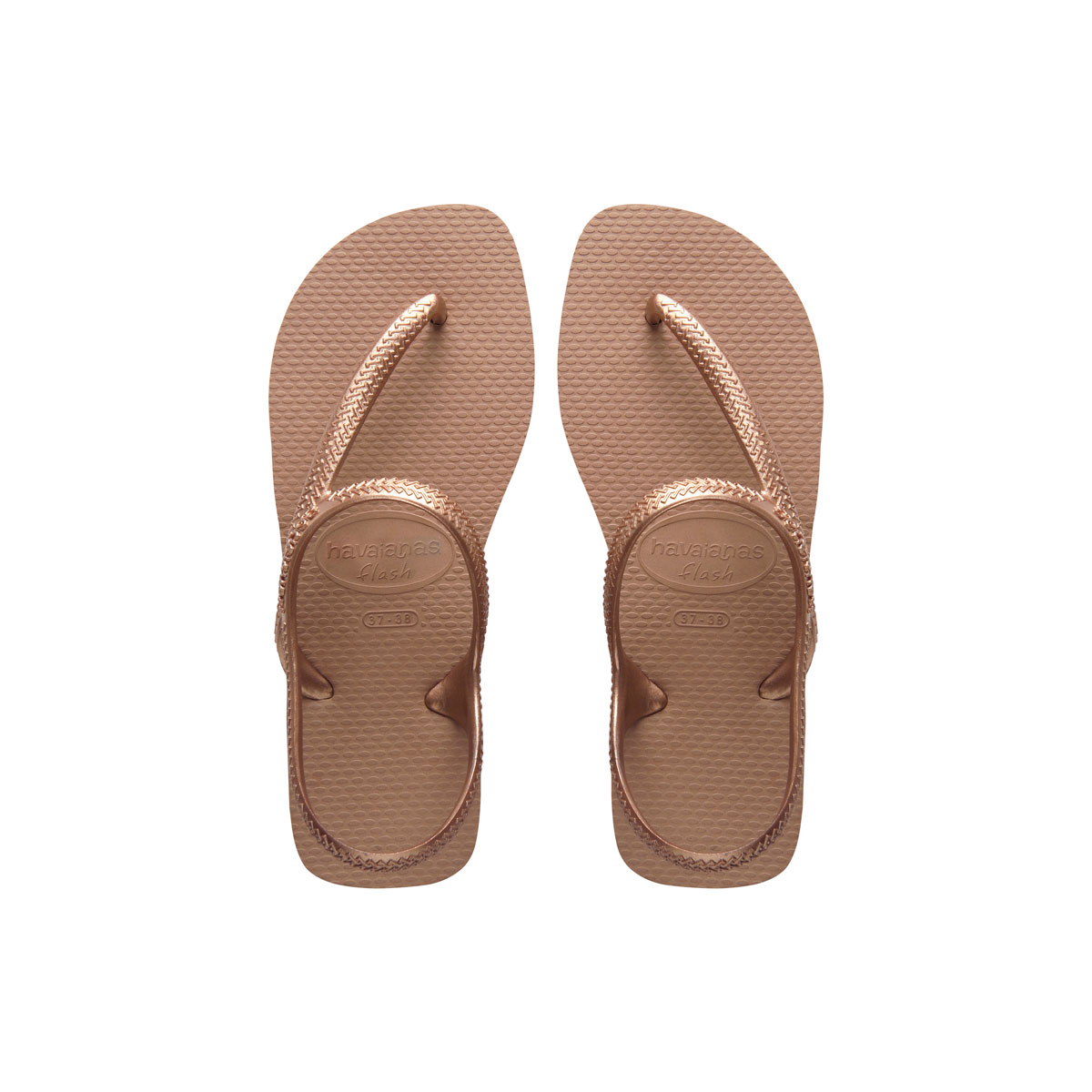 Havaianas Urban Flash Rose Gold Flip Flops Sandals Gift
