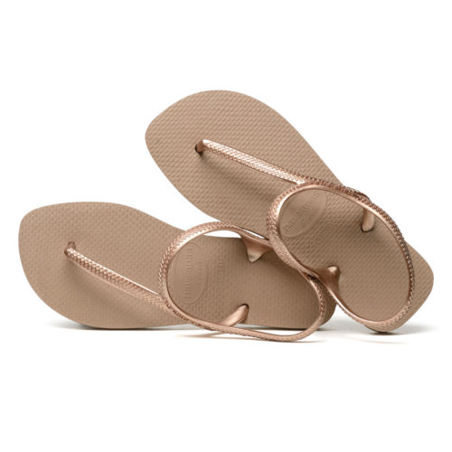 Havaianas Urban Flash Rose Gold Flip Flops Sandals Gift