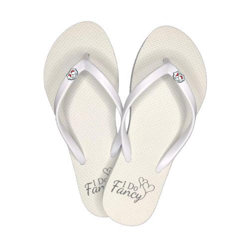 I Do Fancy Slim White Flip-Flops Round Hen Do Charm