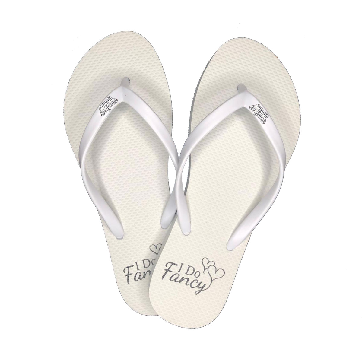 I Do Fancy Slim White Flip-Flops with Silver Maid of Honour Charm