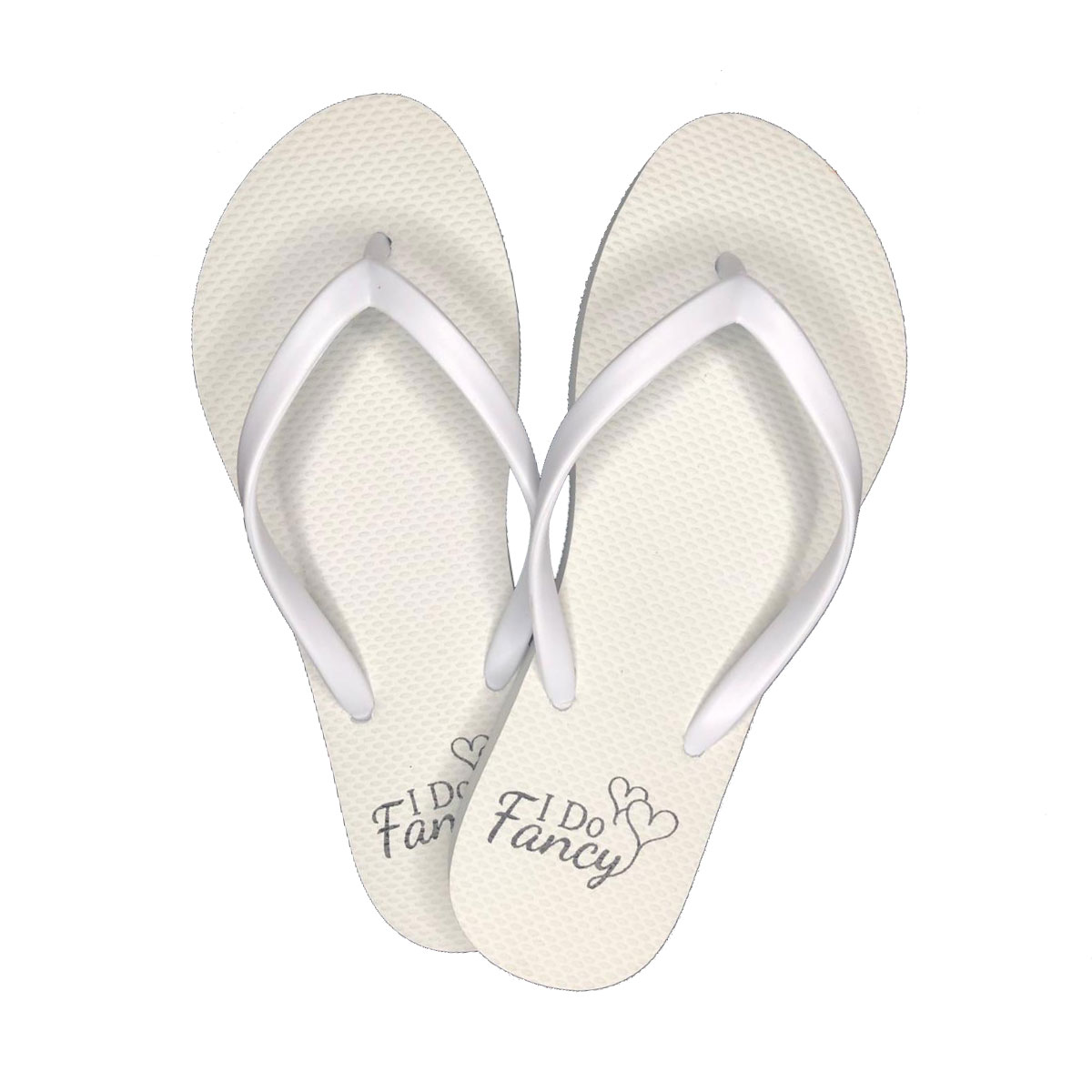 I Do Fancy White Slim Flip Flops Holiday and Bridal